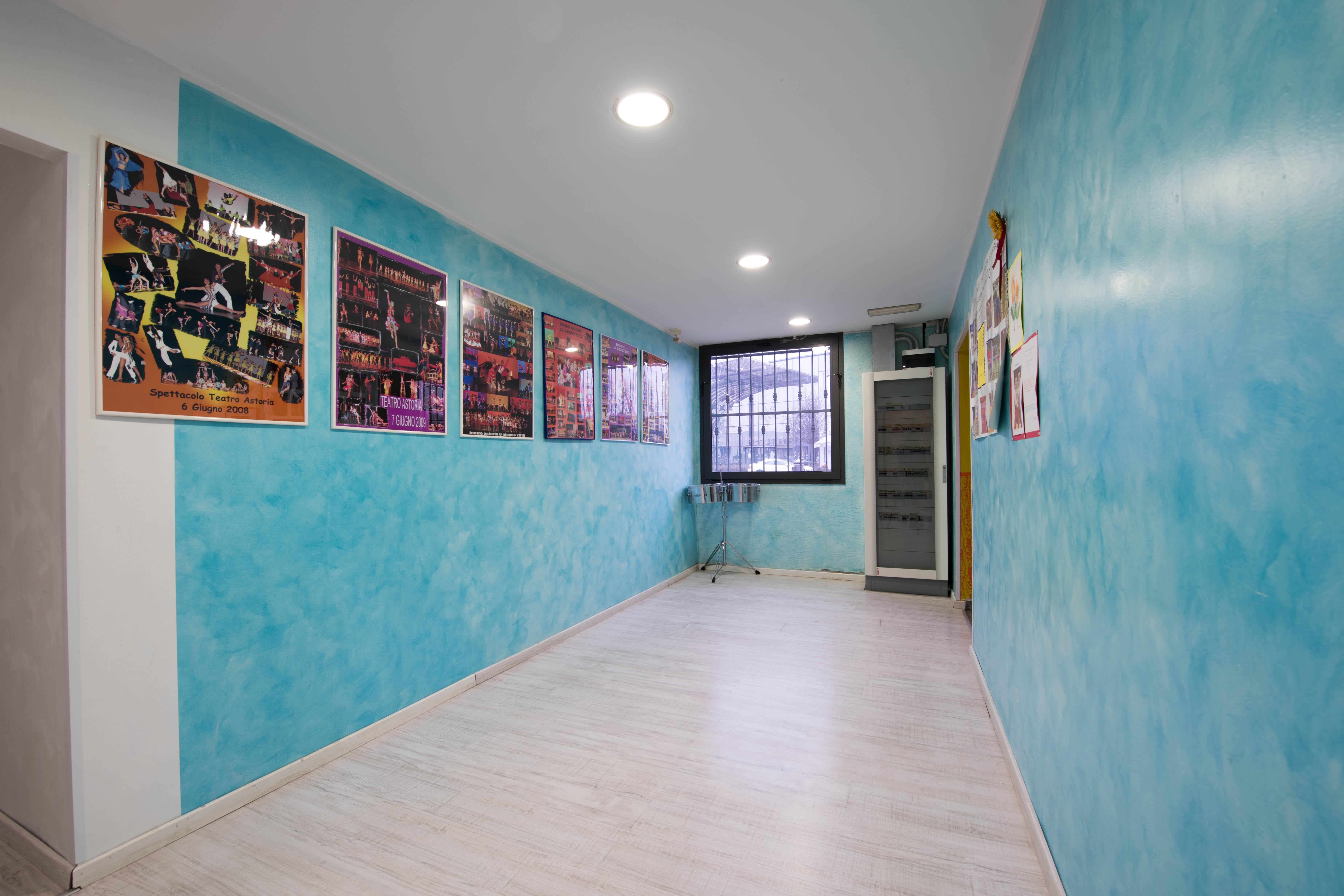 corridoio che porta al piano superiore